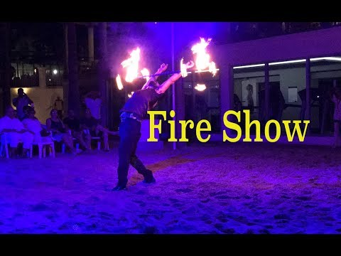 Riu Palace Fire Show on the Medano Beach Cabo,Mexico