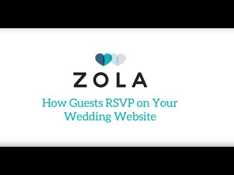 Zola Weddings   How Guests RSVP on Zola Wedding Websites