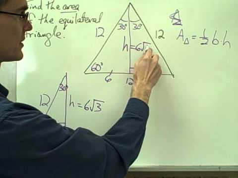 Areas of Equilateral and Isosceles Triangles