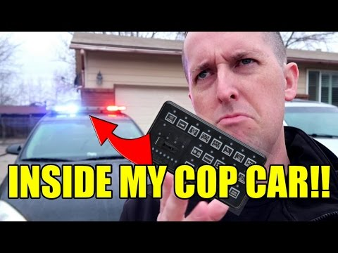 POLICE CAR TOUR - HOW TO WORK THE LIGHTS & SIREN (TRAPPED INSIDE MY OWN CAR!!)