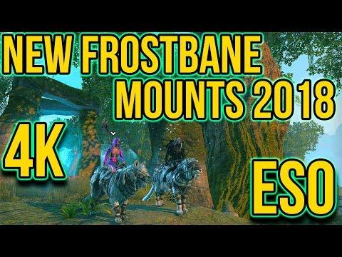 ELDER SCROLLS - NEW FROSTBANE MOUNTS EARLY ACCESS IN 4K!