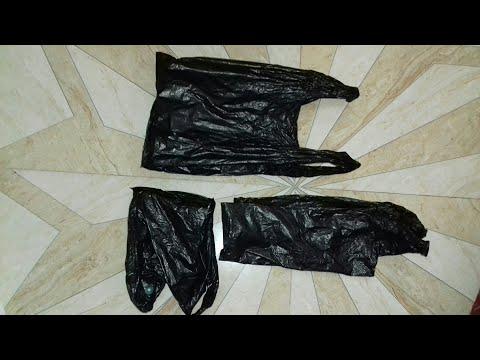 DIY 2 plastic bag amazing craft idea /Best out of waste /reuse plastic bag  (53)