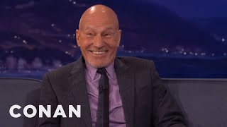 """Download Sir Patrick Stewart: Seth McFarlane Geeked Out Meeting The """"Next Generation"""" Cast - CONAN on TBS Video"""