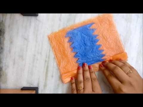 Flower making using plastic bags | Best out of waste | Recycle