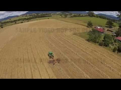 Cutting Hay with John Deere Tractor