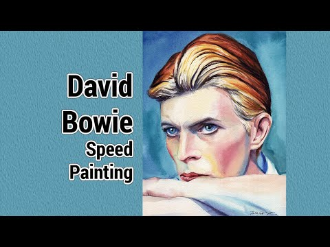 David Bowie Speed Painting