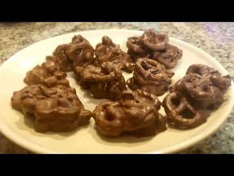 How to Make Chocolate Covered Peanut Clusters with Added Pretzels