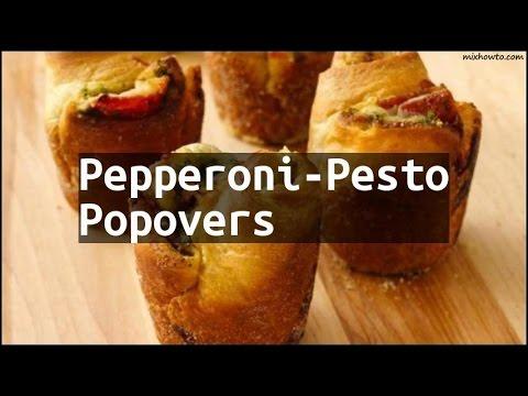 Recipe Pepperoni-Pesto Popovers