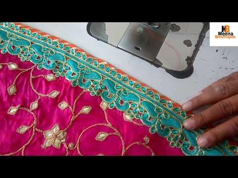 ऐसे बनाएं designer lehenga वह भी Stone work lace और Gota Patti work material मैं