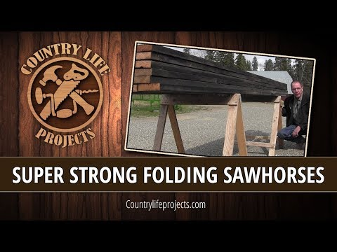 How To Build Lightweight, Super Strong Folding Sawhorses in Less Than 2 Hours