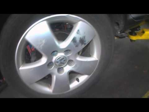 VW A4: Rear wheel speed sensor fault