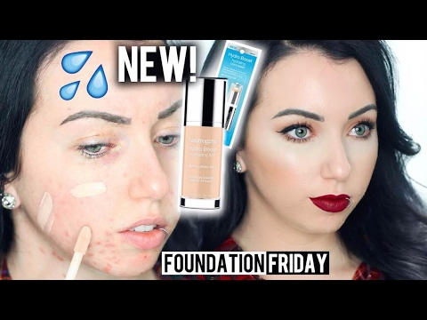 NEW NEUTROGENA HYDRO BOOST FOUNDATION  Acne/Pale Skin {First Impression Review & Demo!}