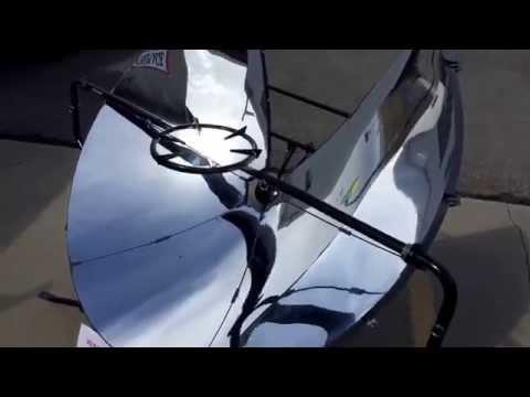 SolSource Solar Power Grill Burns wet cardboard in seconds!