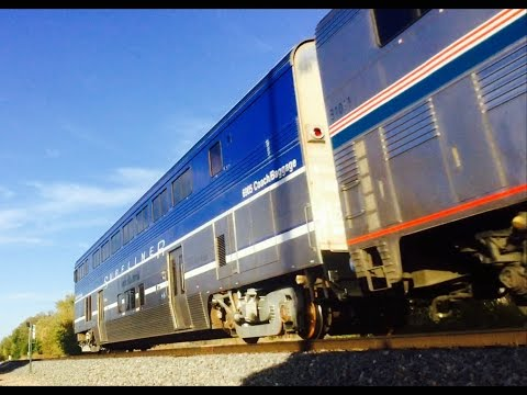 Amtrak Southwest Chief with 3 engines and Pacific Surfliner Cab Car 11/12/16
