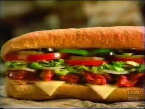 Subway Hot Chicken BBQ Sandwich | Television Commercial | 1995 | Auburn Columbus