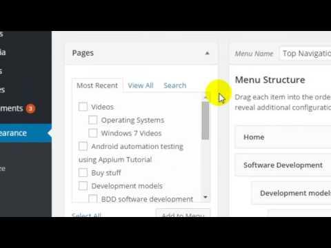 How to add submenu in wordpress