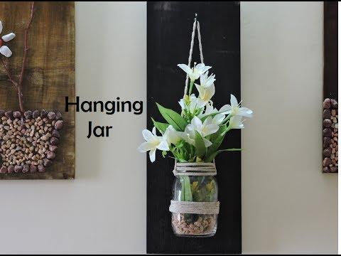How to make Hanging Jar.. Wood Hanging Jar DIY...