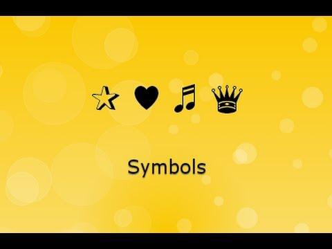 Facebook Symbols & Twitter Symbols رموز فيسبوك و تويتر