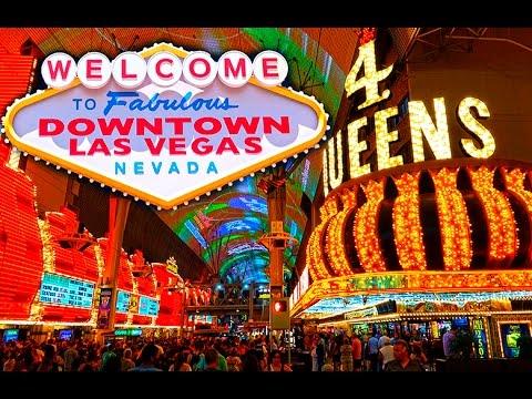 Walking Fremont street Downtown Las Vegas in 4K