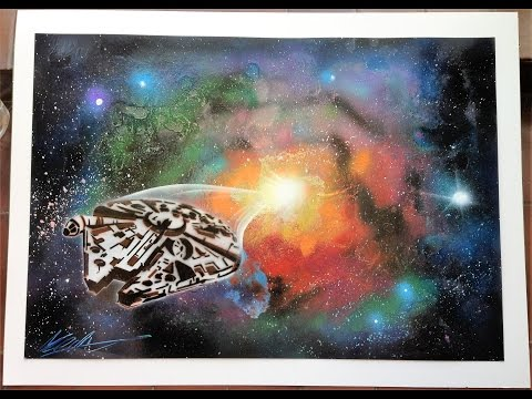 SPRAYPAINTING art MILLENNIUM FALCON - Star Wars  3D Picture