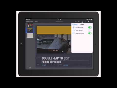 Keynote for iPad: Tools and Setting in PowerPoint for iPad