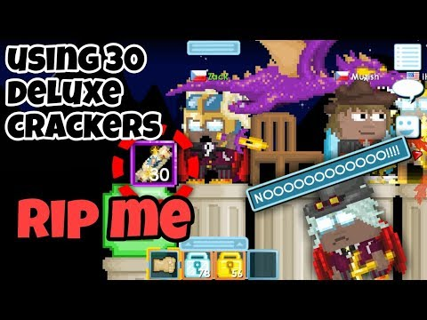 Using 30 Deluxe Crackers ( Worst LUCK EVER  ) | Growtopia