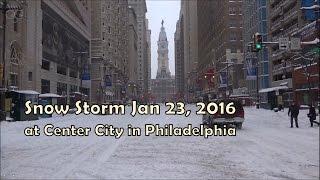 Snow Storm in Philadelphia January 23, 2016 (HD)