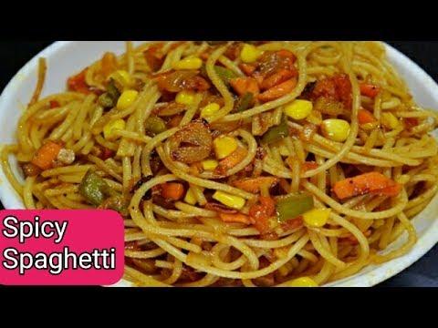 Veg Spaghetti | Veg Noodles | Vegetable Spaghetti Recipe, Spaghetti Noodles Indian Style