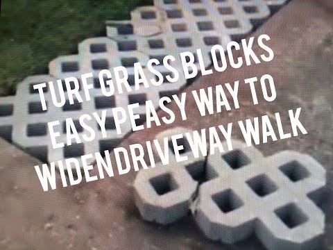 How to Install Turf Grass Block Paving Stones for Driveway, Sidewalk, Patio