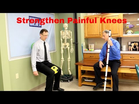 Strengthen Painful Knees without Increased Pain & without Equipment (DIY Exercises)