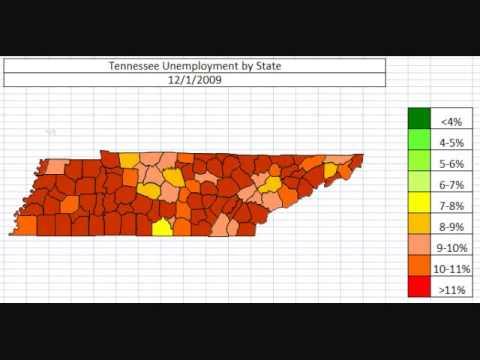 Map: Tennessee Unemployment November 2013