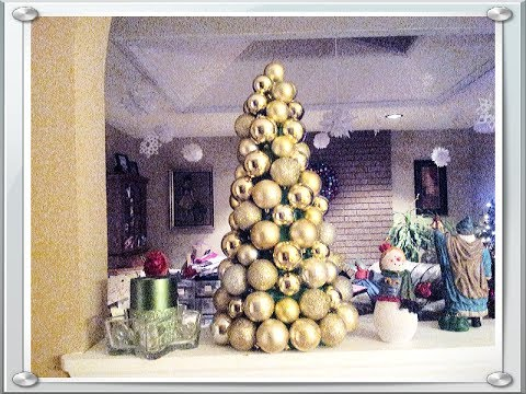 How to Make Christmas Ornament Tree for Under $10