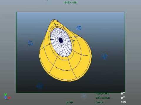 Maya cartoon eye ball rig
