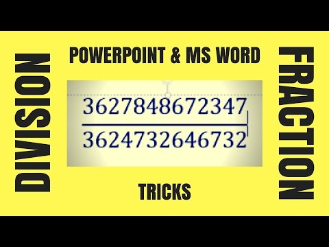 How to Add Division Sign in PowerPoint & MS Word | Same for PPT & Word