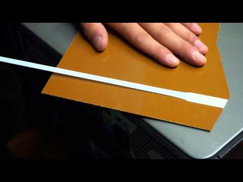 How to properly remove double sided foam tape