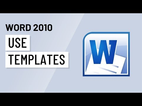 Word 2010: Using Templates