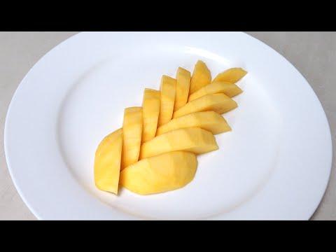 Mango Fruit - How to Cut Up a Mango Fruit - By Mutita Edible Fruit Veg Carving