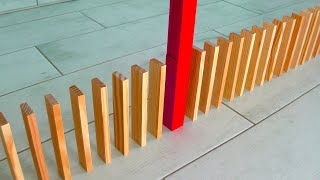 72 domino tricks with Kapla