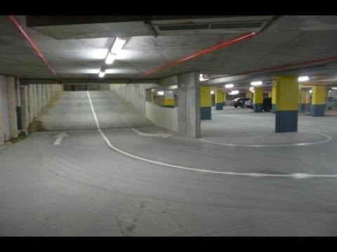 Indoor car parking with ramp - lighting design