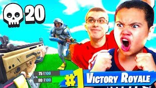 10 YEAR OLD KID PLAYS LIKE NICK EH 30!!! HE IS WAY TOO GOOD! *MUST SEE* FORTNITE BATTLE ROYALE *EPIC