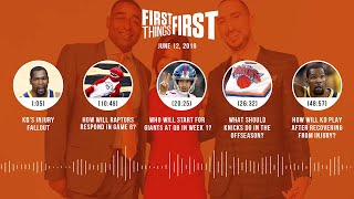 First Things First audio podcast(6.12.19)Cris Carter, Nick Wright, Jenna Wolfe   FIRST THINGS FIRST