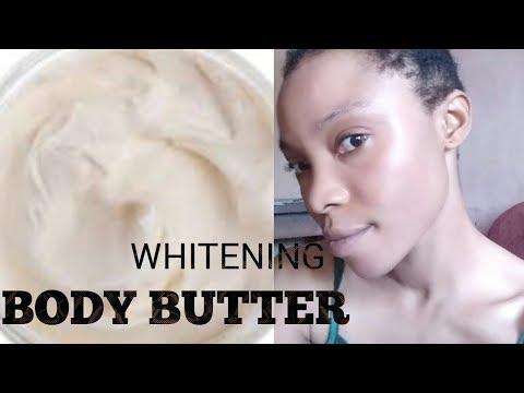 HOW TO MAKE ORGANIC WHITENING BODY BUTTER | DIY ORGANIC SKIN LIGHTENING LOTION| WHITENS VERY FAST!