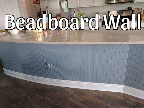 Beadboard Wall on Kitchen Island