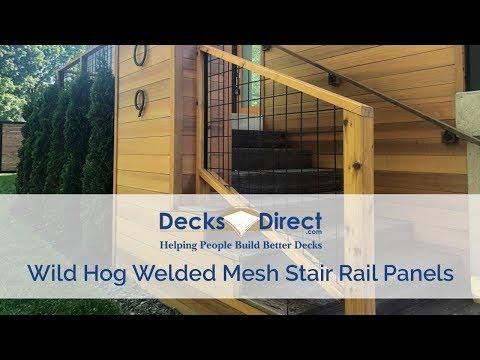 Welded Mesh Stair Rail Panels By Wild Hog Railing