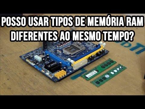 Posso usar tipos de memória RAM diferentes ao mesmo tempo? DDR / DDR2 / DDR3 / DDR4 / SDRAM
