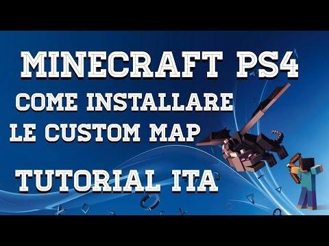 Minecraft Ps4 | Come Installare Le CUSTOM MAP Tutorial ITA