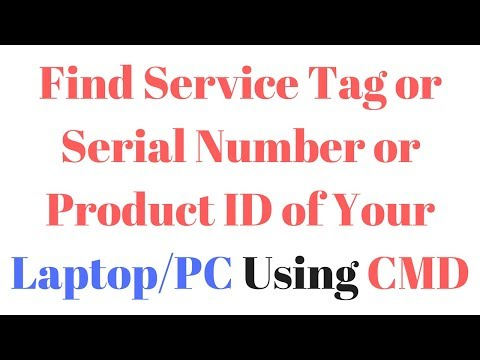 How to Find Service Tag Serial Number Product ID of Your Laptop/PC Using CMD