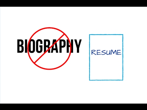Your Resume is Not Your Biography