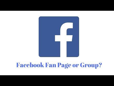 Facebook fanpage vs group
