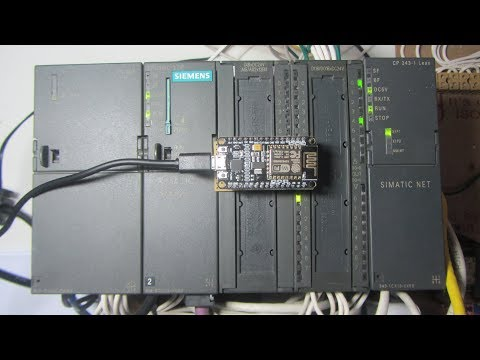 NODEMCU COMUNICATE S7-300 VIA WIFI TO CONTROL DC MOTOR